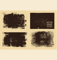 monochrome abstract hand drawn grunge textures vector image