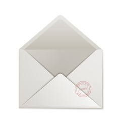 opened empty cover isolated vector image