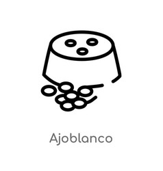 outline ajoblanco icon isolated black simple line vector image
