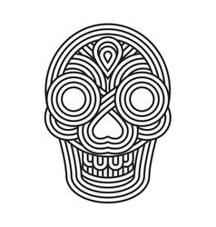 Parallel lines skull symbol vector