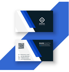 professional blue business card template design vector image