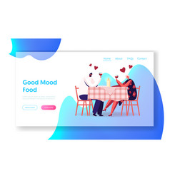 romantic relations meeting website landing page vector image