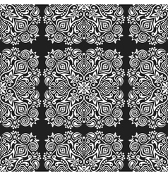 Seamless background with abstract ethnic pattern vector