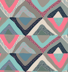 seamless pattern with hand drawn colorful vector image