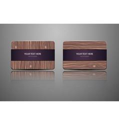 set natural gift cards Wooden credit cards vector image