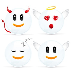Set Of Cheerful Smiles vector