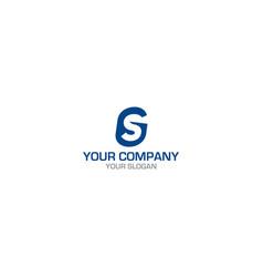 simple gs logo design vector image