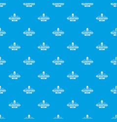 Sleeping pill pattern seamless blue vector