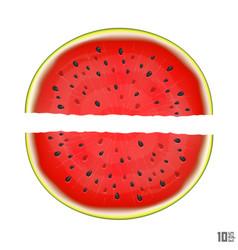Slice watermelon vector