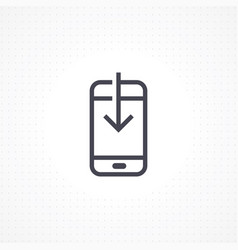 smartphone with down arrow vector image