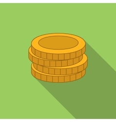 Stack of coins flat icon vector image
