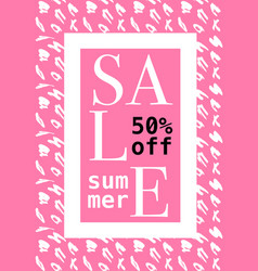 summer sale design layout template with pattern vector image