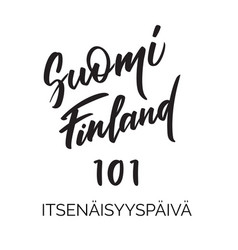 Suomi 101 - independence day in finland lettering vector