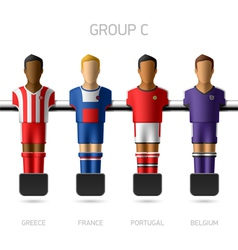 Table football foosball players Group C vector image