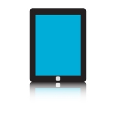 Tablet pc isolated on white background vector image
