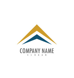 triangle arrow up company logo vector image