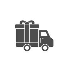 Truck delivey gift box icon vector