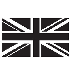 uk flag grayscale vector image
