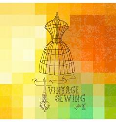 vintage sewing vector image