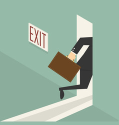 walking to exit door vector image