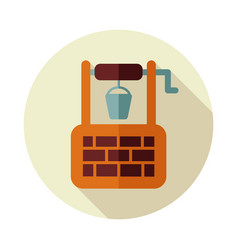 Water well flat icon vector