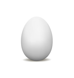 white egg mock up isolated vector image