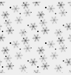winter snow flakes doodles black and white vector image