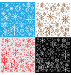 Winter snowflakes background pattern vector