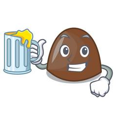 with juice chocolate candies mascot cartoon vector image