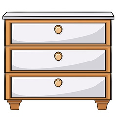 Wooden drawers vector