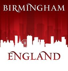 Birmingham England city skyline silhouette vector image