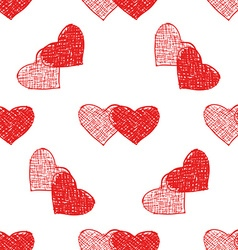 Couple of hearts pattern vector
