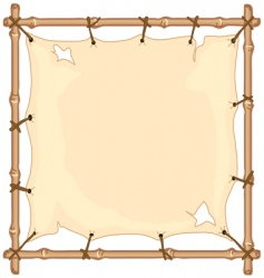 old cloth on bamboo frame vector image