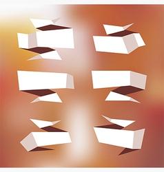 Origami speech bubble vector