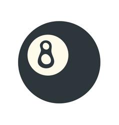 pool eight ball icon image vector image