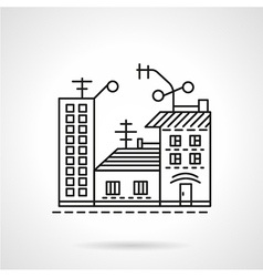 Residential ares line icon vector image vector image