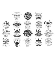 set of monochrome emblems for fashion vector image vector image