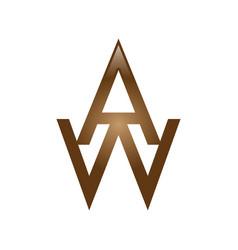 Aw letter logo vector