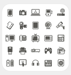 Electronic Device icons set vector image