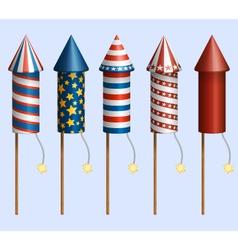 Firework Rockets vector image