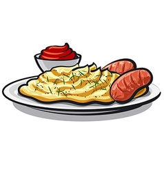 mashed potatoes vector image vector image
