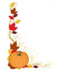 pumpkin autumn border vector image vector image