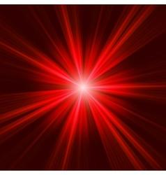 red bursting star on dark background eps 8 vector image vector image
