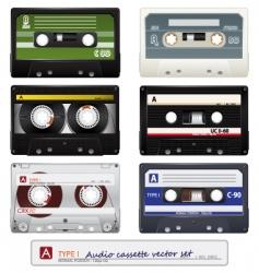 vector audio cassettes vector image