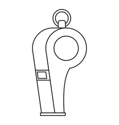 Whistle of refere icon outline style vector