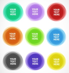 Colorful Editable Geometrical Circles vector image