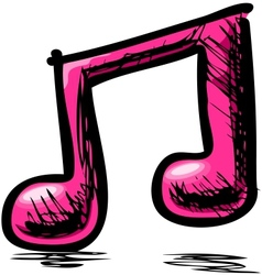 Double music note vector image vector image