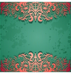 Luxury background with vintage frame and stripe vector image vector image