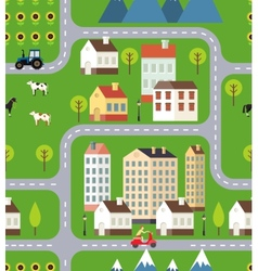 Seamless town background design vector