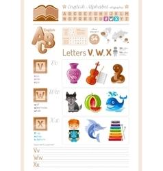 table English alphabet ABC vector image